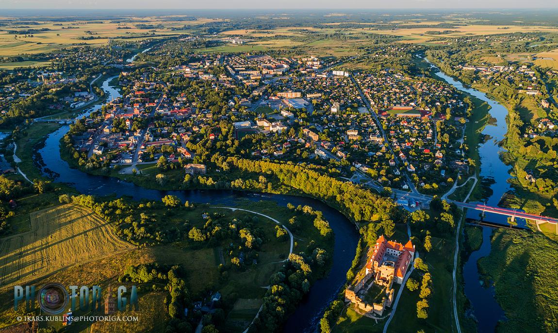 Bauska from bird's eye view | Bauska no putna lidojuma