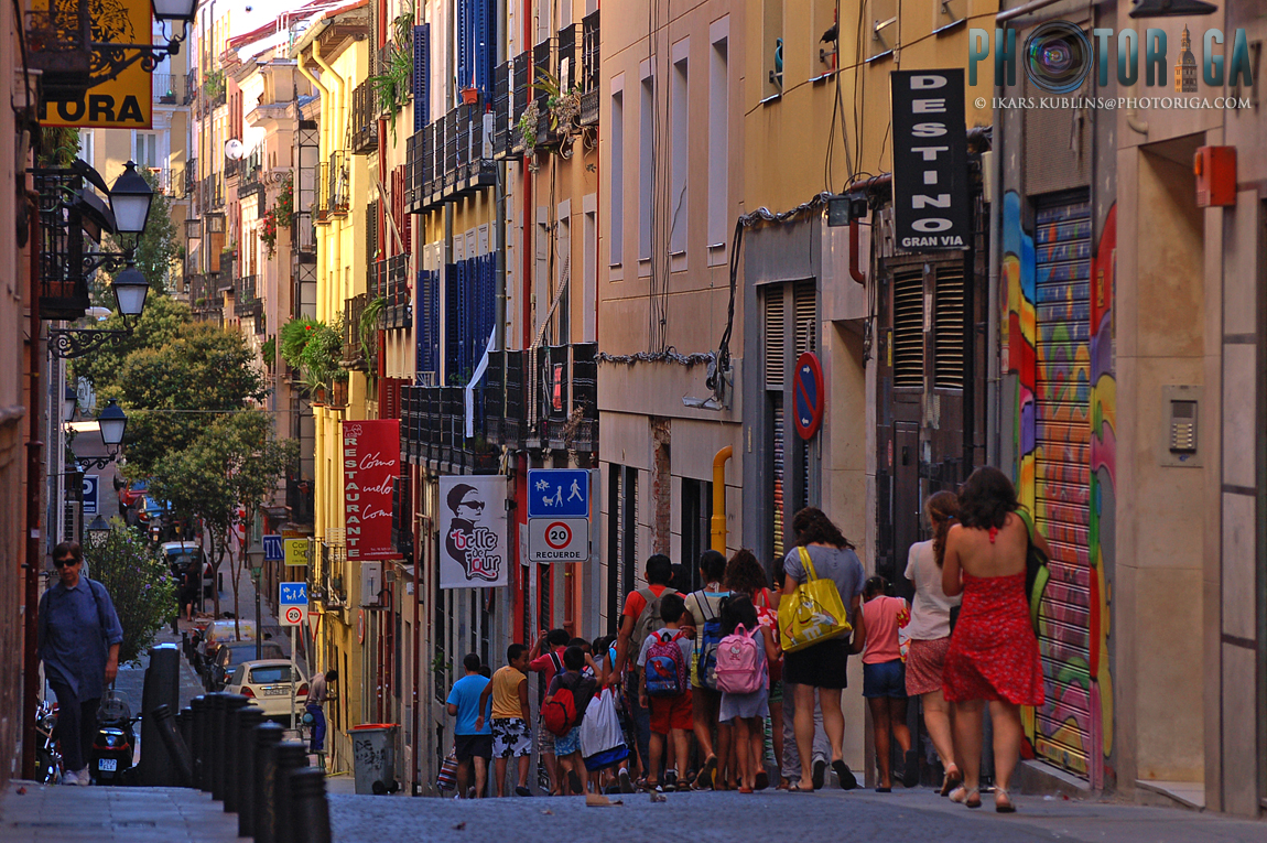 Street in Madrid Old Town